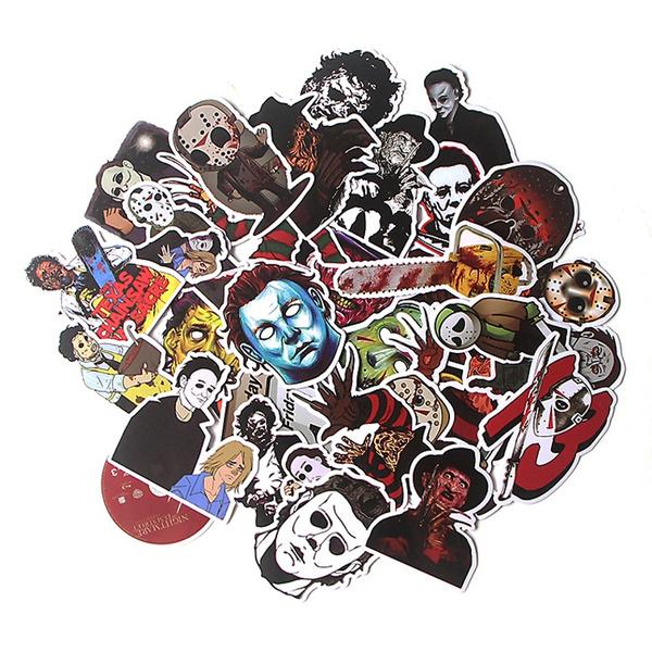 killersticker, halloweensticker, Waterproof, Stickers