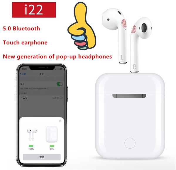 I22 Bluetooth Headset 5 0 Sports Headphones Flip Popup Bluetooth Headset Wish