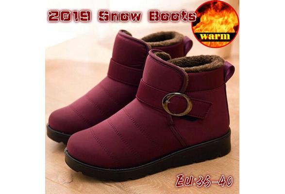 Boots Women's Snow Shoes Warm 2019 Women Waterproof Winter Cotton F1JlKc3T