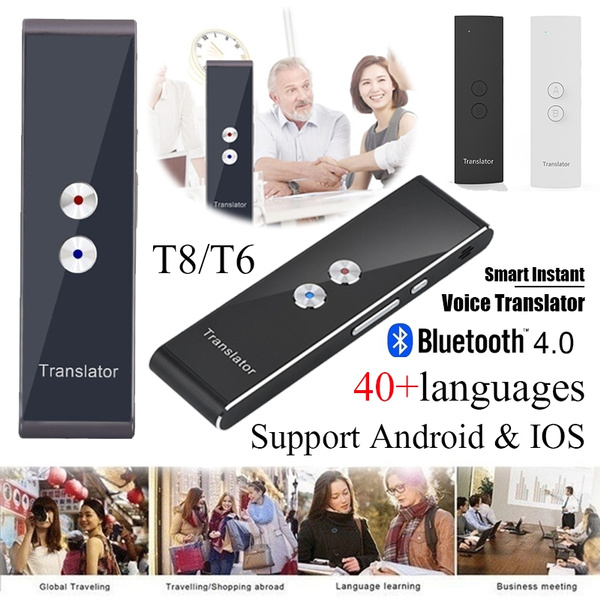 T8/T6 Mini Portable Smart Instant Voice Translator 40 Languages Interactive  Bluetooth 4 0 2-Way Accurate Translator