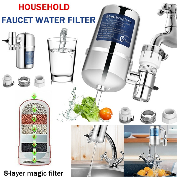 Brilliant Modern Tap Faucet Nozzle Filter System 8 Layer Kitchen Bathroom Faucets Water Purifier Remove Water Contaminants Kit Home Interior And Landscaping Ponolsignezvosmurscom