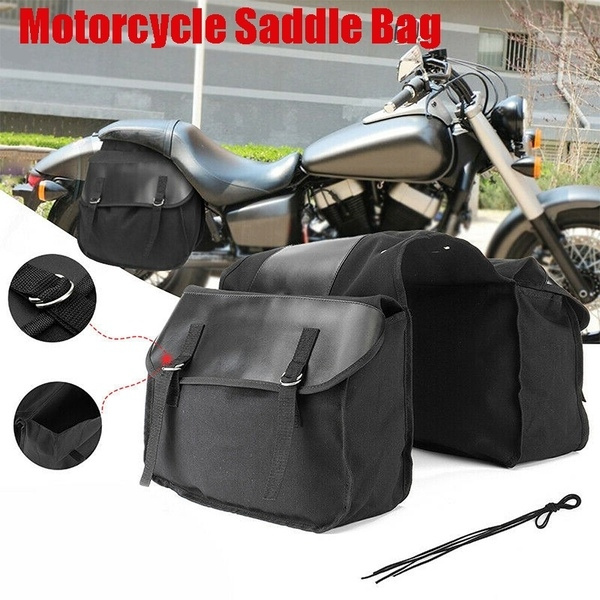 Motorbike Touring Saddle Bag Motorcycle Real Leather Waterproof Panniers Box