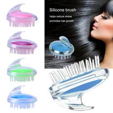 hair, Head, massagecomb, Silicone