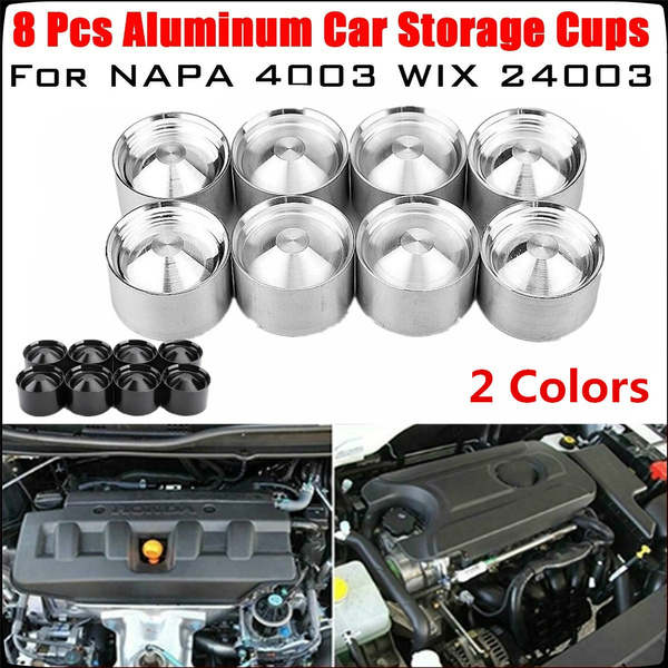 8 Pack Aluminum Car Storage Cups For NAPA 4003 WIX 24003 OD 1 797