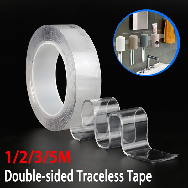 MAGIC Double sided Grip Tape Traceless Washable Adhesive Tape Nano Invisible Gel