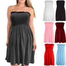 pluesize, Strapless Dress, womens top, Mini
