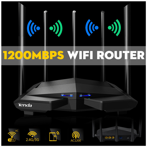 Wavlink AC1200 1200Mbps Dual Band 4x3dBi Wireless WIFI Range Router  Repeater Signal External Antenna (US/EU/UK Plug)
