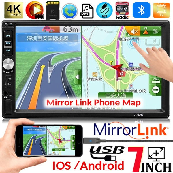 7\ Full HD 2 DIN Car MP5 Player Bluetooth Touch Screen Stereo Radio