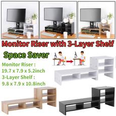 monitorstand, Home & Office, computermonitorriser, displayshelf