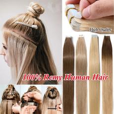 hairstyle, Hairpieces, human hair, tapeinhumanhairextension