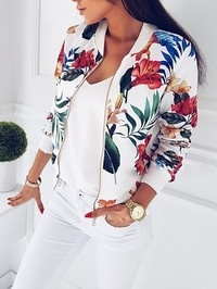 casual coat, Shorts, floraljacket, Fashion