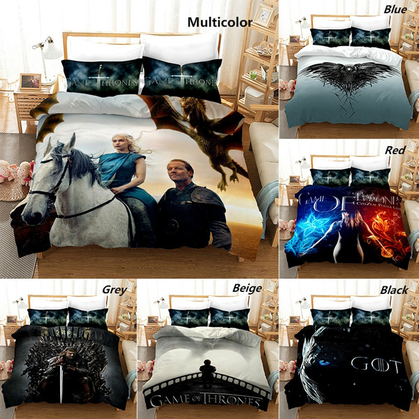 Lenzuola Matrimoniali King Size.3d Digital Printed Game Of Thrones Pattern Duvet Cover With Pillow