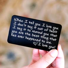 Girlfriend Gift, walletinsert, gift for him, Love