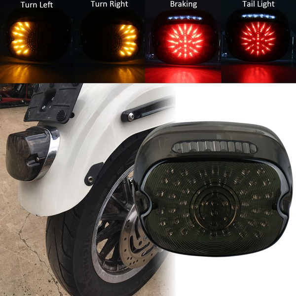 Smoked Harley Tail Light Led Rear Driving Braking Turn Signal Light For 1200 Sportster 883 Dyna