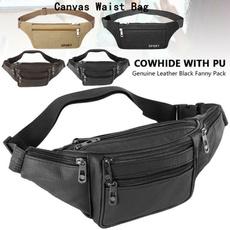 menwaistbag, leatherbeltbag, Waist, leather