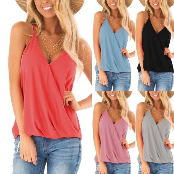 Summer, Vest, summer t-shirts, looseblouse