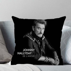 French Rock Singer Johnny Hallyday Living Room Sofa Car Cushion Cover Pillowcase