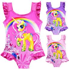 Summer, beach wear, kidsbikini, unicorn