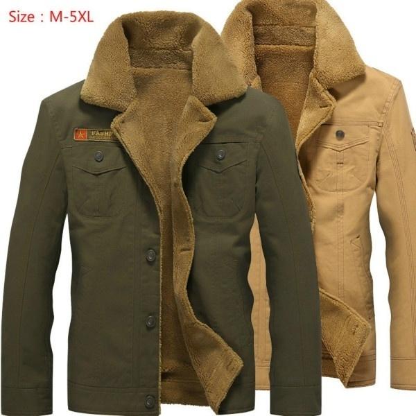 0243997bd Men Jacket Winter Bomber Air Force Pilot Warm Male Fur Collar Army Tactical  Jacket