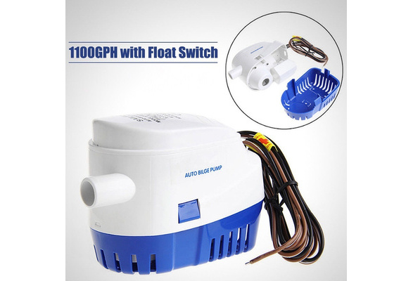 12V Boat Marine Automatic Submersible Auto Bilge Water Pump Float Switch