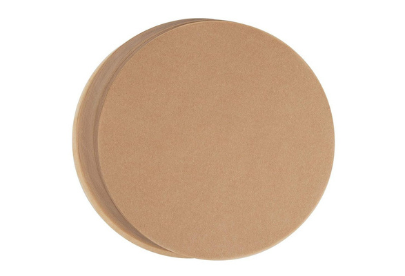 Parchment Paper Rounds Natural Brown 200-Count 9-Inch Unbleached Baking Paper Sheets with Easy Lift Tabs Non-Stick Precut Circle for Cake Pan Liners