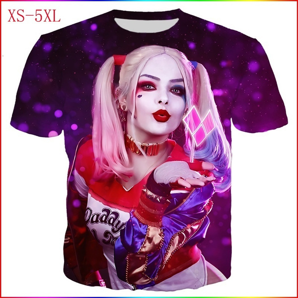 New Fashion Funny 3d Harley Quinn Joker Printed Couple T Shirts Street T Shirts For Men Women Tops T Shirt For Boys Girls Wish