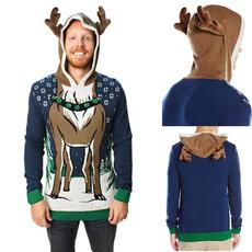 hooded, Christmas, uglychristmassweater, Tops