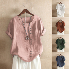 blouse, Summer, basictop, solidcolortop