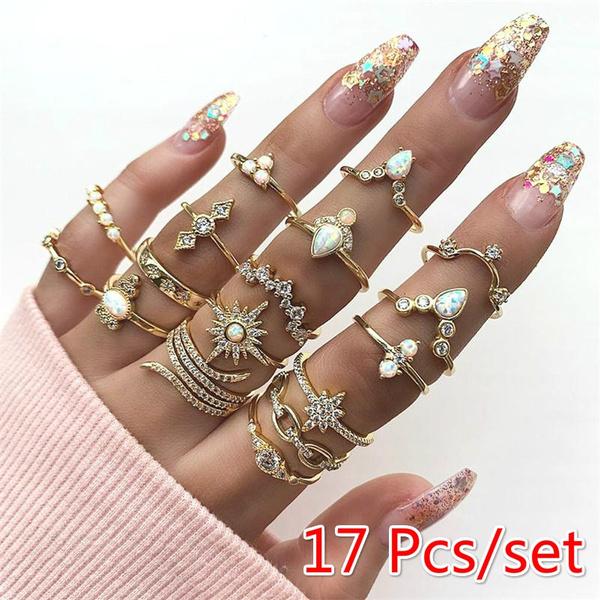 Fashion, Star, Women Ring, gold