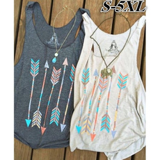 Cotton, Women Vest, Head, Tank