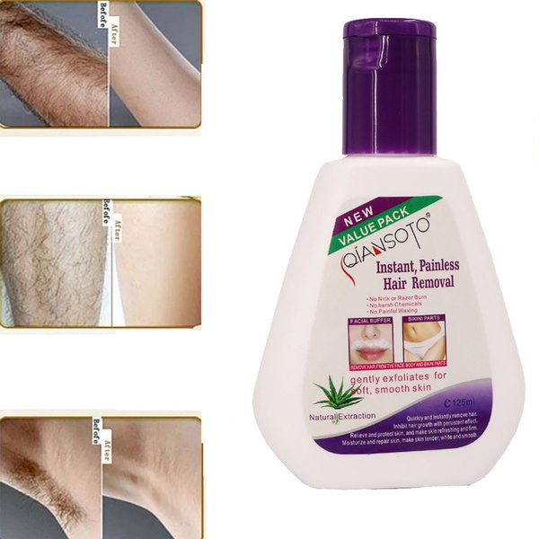 125ml Hot Sale Facial Leg Pubic Body Stop Hair Growth Arm Pit Hair Removal  Cream Aloe Natural Extraction Hair Growth Inhibitor Unisex Permanent Aloe