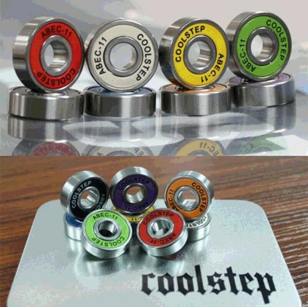 8pcs//set skateboard special bearing Chrome steel High speed skates colour roller