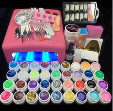 Lamp, nailtoolsset, nail tips, Beauty