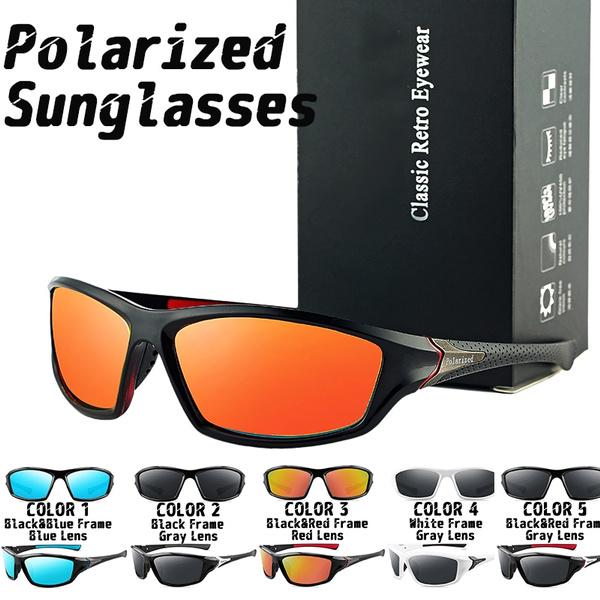 Men Sport Polarized Sunglasses Outdoor Driving Fishing Riding Fashion Glasses