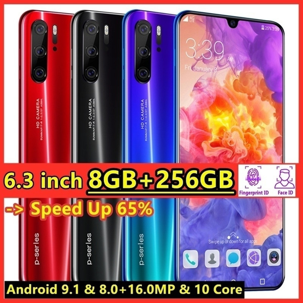 2019 Latest Upgrade Generation Face and Fingerprint Unlock Smartphone -  Android 9 1 Full Screen 6 3 Inch 4G Cellphone (8GB RAM+256GB ROM)