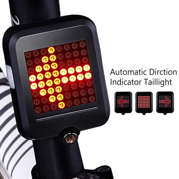 Automatic Direction Indicator Taillight USB Charging Warning Lamp Bicycle Lights