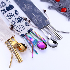 Forks, silverwarset, portable, rainbow