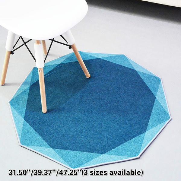 Fabulous Living Room Creative Polygon Carpet Bedroom Bedside Coffee Table Swivel Chair Anti Slip Floor Mat Area Rug Machost Co Dining Chair Design Ideas Machostcouk