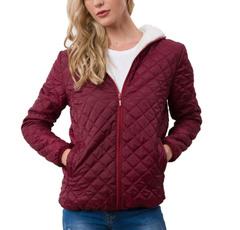 Fashion, hooded, Winter, Coat