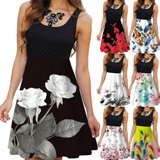 Summer, dress slim, Fashion, neck dress