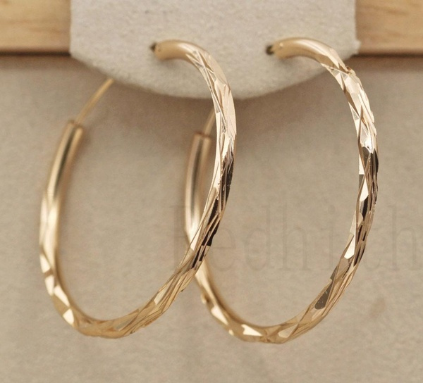 bighoopearring, yellow gold, 18k gold, Jewelry