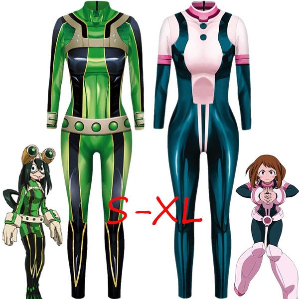Anime My Hero Academia Froppy Tsuyu Asui Ochaco Uraraka Cosplay Costume Spandex Zentai Suit Women Girls Bodysuits Halloween Kids And Adults Wish