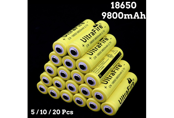 20 Pcs/Pack 3 7V 18650 9800mah Li-ion Rechargeable Battery for LED  Flashlight Torch, Electric Tools, Remote Control, LED Flashlights, Mobile  Power,