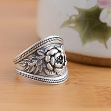Sterling, rosering, Jewelry, ringswomen