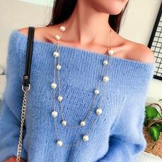trendy necklace, Chain Necklace, korea, Joyería