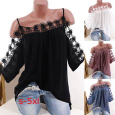 blouse, Summer, Shorts, Lace