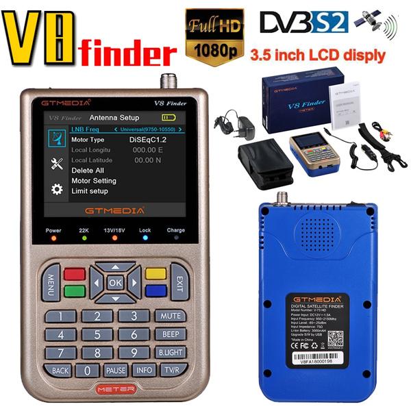 HD Digital Satellite Finder FTA DVB-S2 HD 1080P Signal Meter MPEG-2 /& 4 Pointer