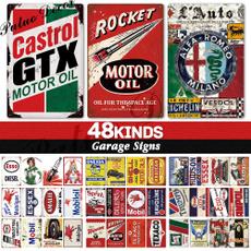 Decor, Vintage, motoroilsign, Metal