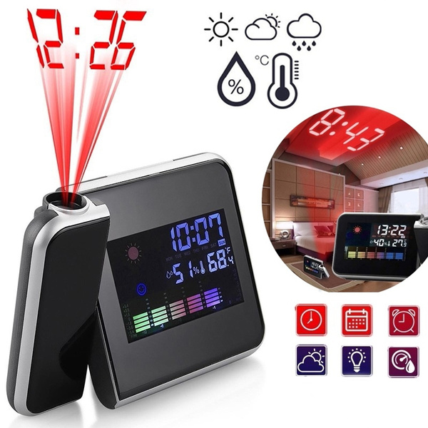 projectionalarmclock, ledprojectionclock, weather forecast, Clock