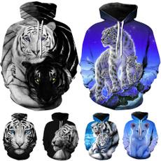women pullover, 3D hoodies, Plus Size, Animal